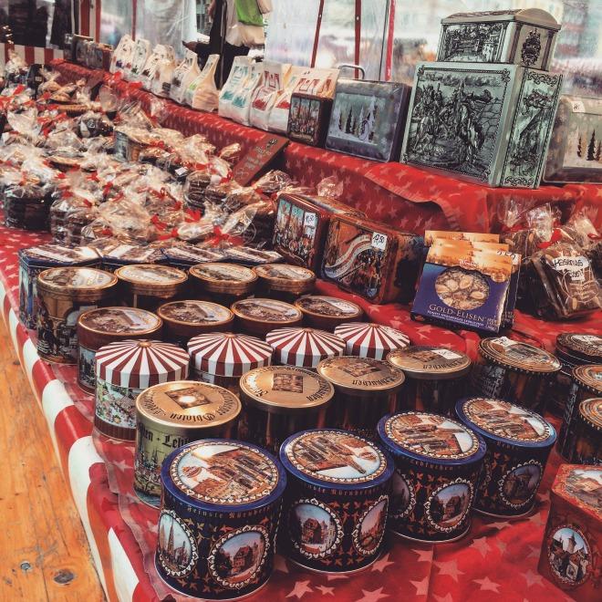 Lebkuchen no mercado em Nuremberg