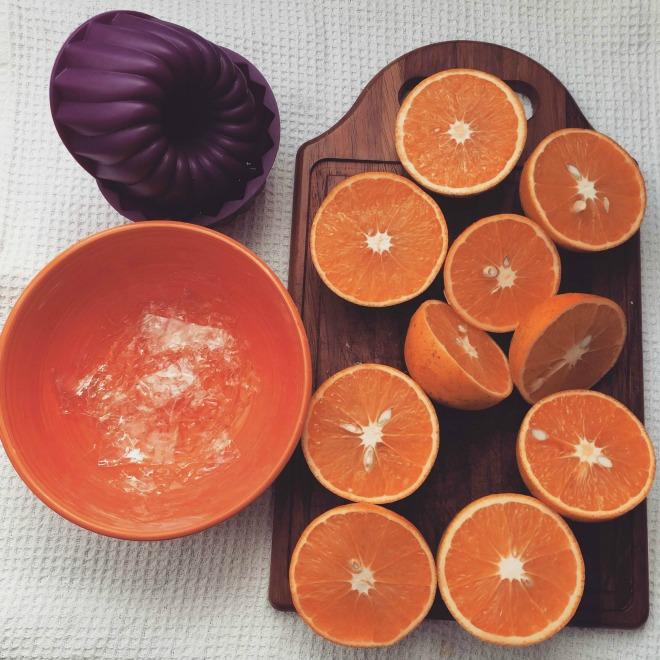 ingredientes para gelatina de laranja