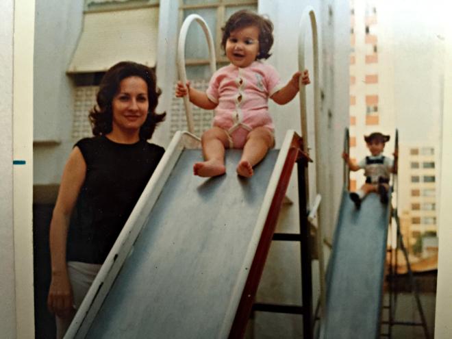 Ana Holanda e a mãe