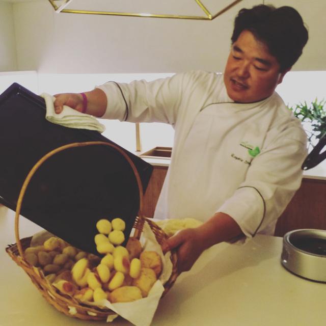 O padeiro Rogerio Shimura