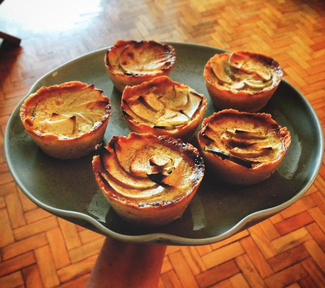 Tortinhas de maçã verde