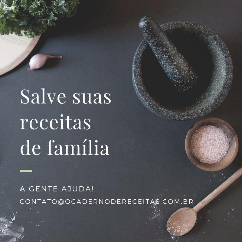 Salve as receitas de família