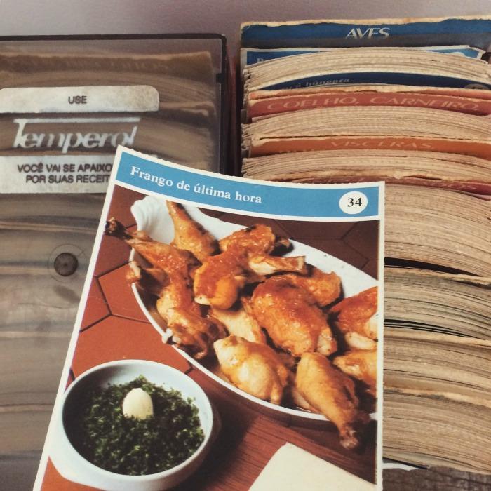 Receita de frango do fichário da Abril Cultural