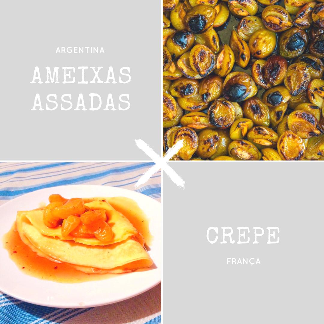 Duelo da Copa: ameixas tostadas da argentina Paola Carosella e crepe francês com mexerica