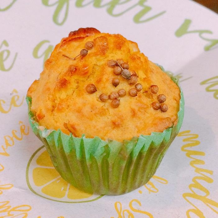 Huminta (bolinho de milho e quejo) da Comedoria Gonzales