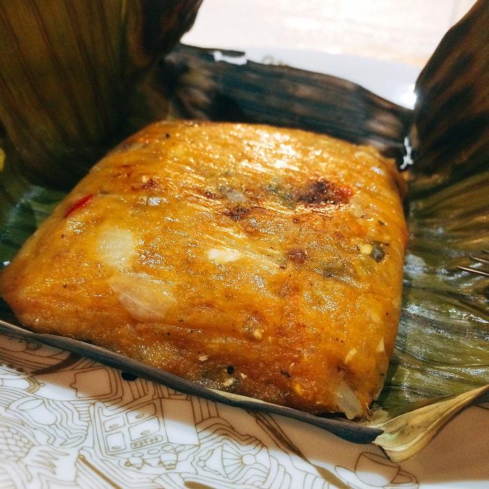 Beiju-moqueca feito pelo chef Thiago Castanho no evento Experimenta! do Sesc SP