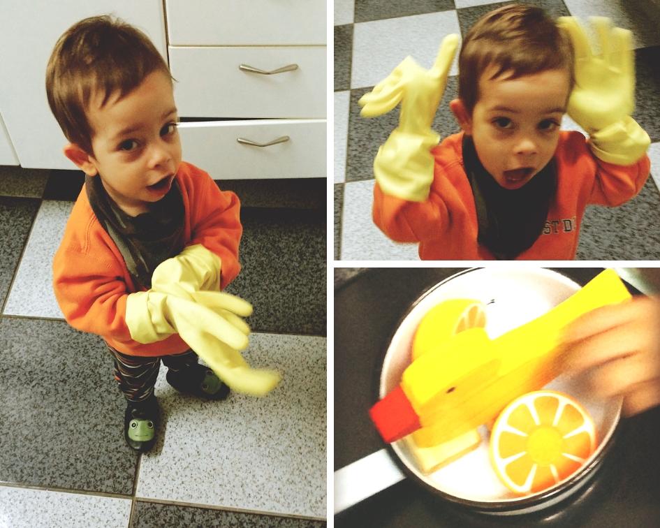 Pedro na cozinha