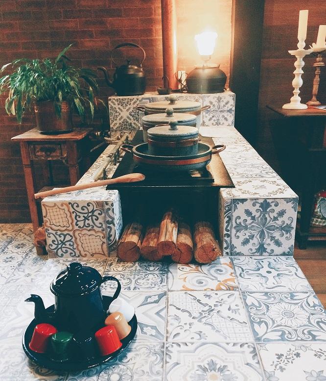 fogão da pousada Armazém 26