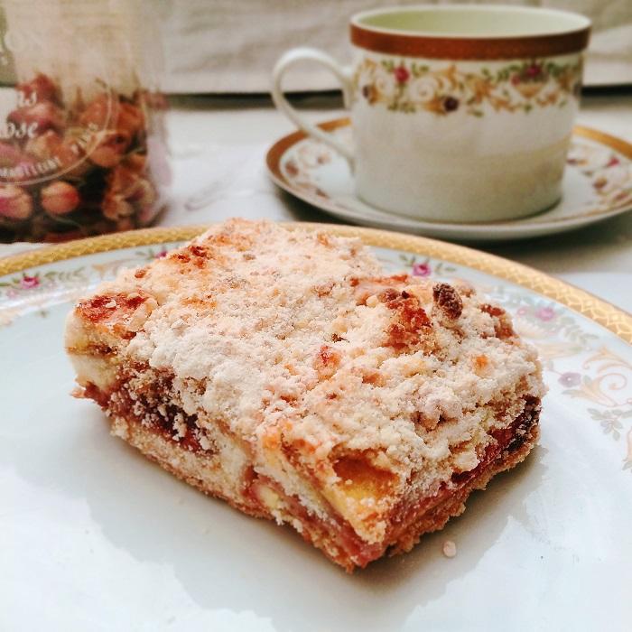 torta de banana e farofa crocante - Foto O Caderno de Receitas