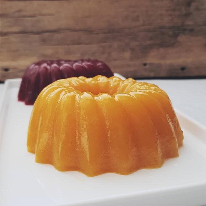 gelatina de manga e amora