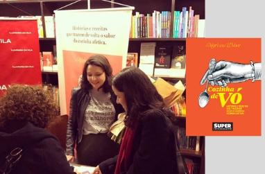 Mariana Weber no lançamento do livro Cozinha de Vó
