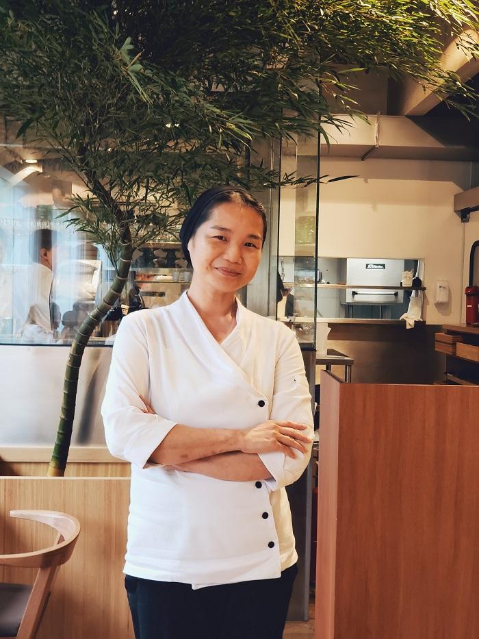A chef Telma Shiraishi no Aizomê da Japan House (foto: O Caderno de Receitas)