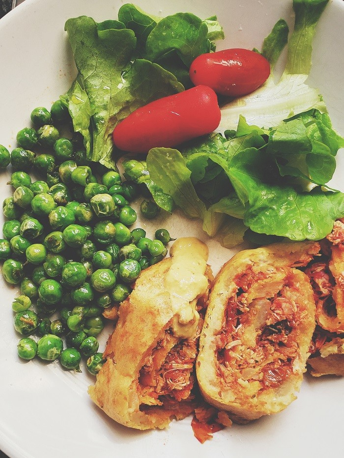 Receita de rocambole de batata e frango